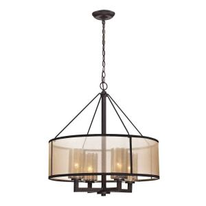 Diffusion - 4 Light Chandelier in Transitional Style with Luxe/Glam and Mid-Century Modern inspirations - 25 Inches tall and 24 inches wide