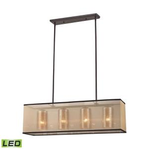 Diffusion - 38W 4 LED Chandelier in Transitional Style with Luxe/Glam and Mid-Century Modern inspirations - 10 Inches tall and 9 inches wide