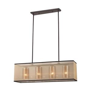Diffusion - 4 Light Chandelier in Transitional Style with Luxe/Glam and Mid-Century Modern inspirations - 10 Inches tall and 9 inches wide