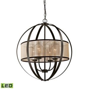 Diffusion - 38W 4 LED Chandelier in Transitional Style with Luxe/Glam and Mid-Century Modern inspirations - 27 Inches tall and 24 inches wide