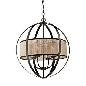 Diffusion - 4 Light Chandelier in Transitional Style with Luxe/Glam and Mid-Century Modern inspirations - 27 Inches tall and 24 inches wide