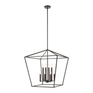 Fairfax - 8 Light Chandelier in Transitional Style with Modern Farmhouse  and Country/Cottage  inspirations - 26 Inches tall and 24 inches wide