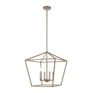 Fairfax - 4 Light Chandelier in Transitional Style with Modern Farmhouse  and Country/Cottage  inspirations - 19 Inches tall and 18 inches wide
