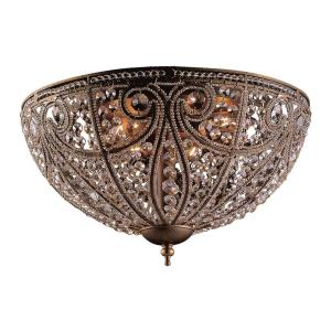 Elizabethan - 6 Light Flush Mount in Traditional Style with Victorian and French Country inspirations - 10 Inches tall and 17 inches wide