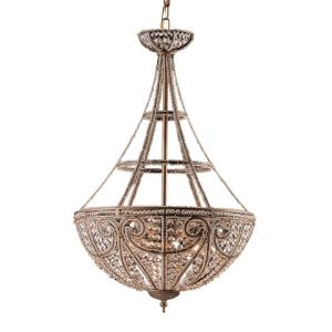 Elizabethan - 4 Light Pendant in Traditional Style with Victorian and French Country inspirations - 27 Inches tall and 17 inches wide