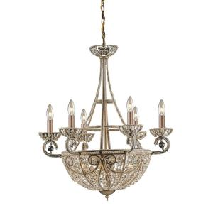 Elizabethan - 10 Light Chandelier in Traditional Style with Victorian and French Country inspirations - 29 Inches tall and 26 inches wide