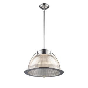 Halophane - 1 Light Pendant in Transitional Style with Urban/Industrial and Modern Farmhouse inspirations - 13 Inches tall and 16 inches wide