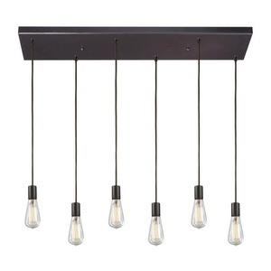Menlow Park - Six Light Rectangular Pendant