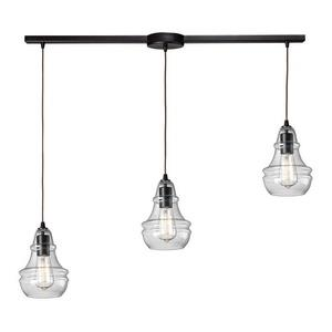 Menlow Park - Three Light Linear Pendant