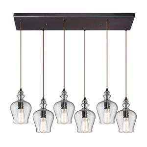 Menlow Park - Six Light Rectangular Pendant