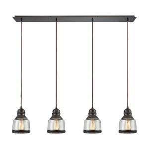 "Menlow Park - 9"" Four Light Linear Pendant"