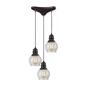 "Menlow Park - 10"" Three Light Pendant"