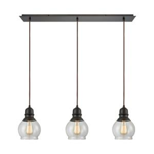 "Menlow Park - 10"" Three Light Linear Pendant"