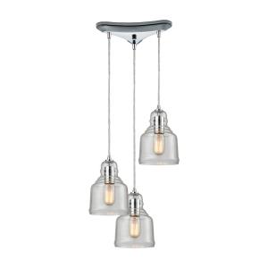 "Menlow Park - 9"" Three Light Pendant"