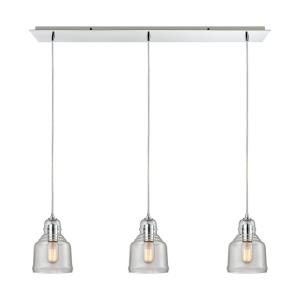 "Menlow Park - 9"" Three Light Linear Pendant"