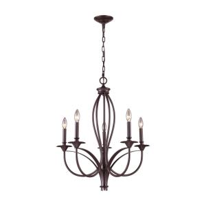 Medford - 5 Light Chandelier in Transitional Style with Country/Cottage and Rustic inspirations - 28 Inches tall and 26 inches wide