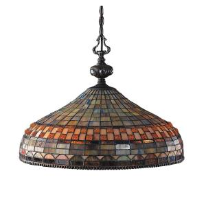 Jewelstone - 28.5W 3 LED Chandelier in Traditional Style with Victorian and Vintage Charm inspirations - 16 Inches tall and 20 inches wide