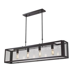 Parameters - 4 Light Chandelier in Modern/Contemporary Style with Modern Farmhouse and Urban inspirations - 51 Inches tall and 8 inches wide