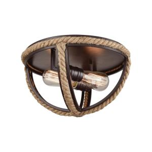 Natural Rope - Two Light Flush Mount
