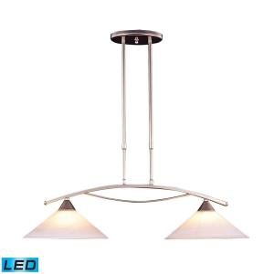Elysburg - 19W 2 LED Island in Transitional Style with Art Deco and Retro inspirations - 26 Inches tall and 12 inches wide