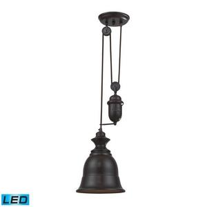 Farmhouse - 71 Inch 9.5W 1 LED Adjustable Pendant