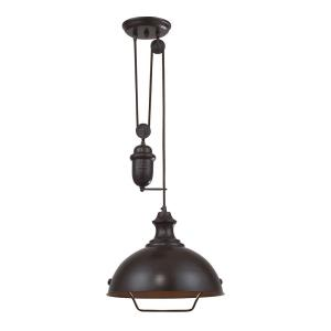 Farmhouse - 9.5W 1 LED Adjustable Pendant in Transitional Style with Vintage Charm and Modern Farmhouse inspirations - 70 by 14 inches wide