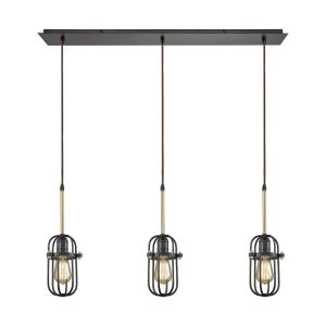 Binghamton - Three Light Linear Mini Pendant