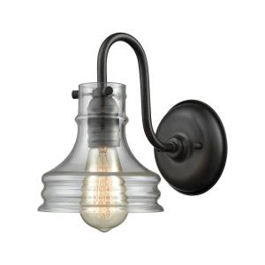 Binghamton - 1 Light Wall Sconce in Transitional Style with Vintage Charm and Modern Farmhouse inspirations - 9 Inches tall and 6 inches wide