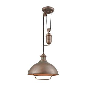 Farmhouse - One Light Adjustable Pendant