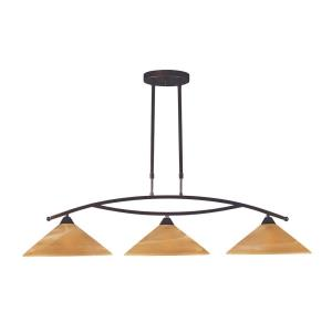 Elysburg - 28.5W 3 LED Island in Transitional Style with Art Deco and Retro inspirations - 26 Inches tall and 12 inches wide