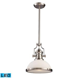 Chadwick - 1 Light Pendant in Transitional Style with Modern Farmhouse and Urban/Industrial inspirations - 14 Inches tall and 13 inches wide