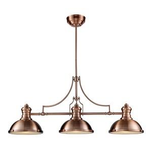 Chadwick - 3 Light Linear Island Light with Metal, Shell, or Glass Shade