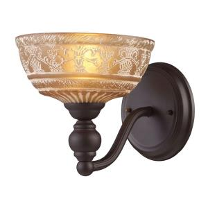 Norwich - 1 Light Wall Sconce in Traditional Style with Victorian and Vintage Charm inspirations - 8 Inches tall and 8 inches wide
