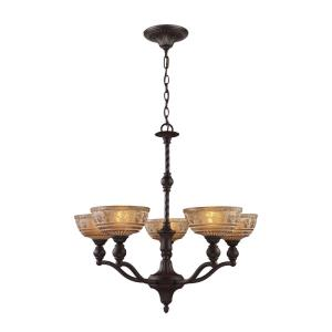 Norwich - 5 Light Chandelier in Traditional Style with Victorian and Vintage Charm inspirations - 27 Inches tall and 28 inches wide