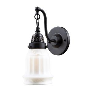 Quinton Parlor - 1 Light Wall Sconce in Traditional Style with Victorian and Vintage Charm inspirations - 12 Inches tall and 5 inches wide