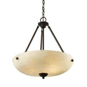 Restoration - 38W 4 LED Pendant in Traditional Style with Victorian and Vintage Charm inspirations - 24 Inches tall and 18 inches wide