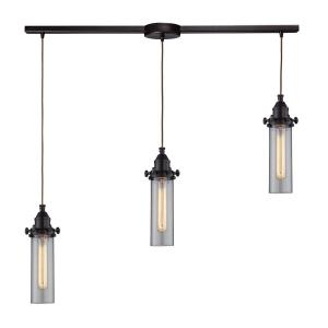 Fulton - 3 Light Linear Pendant in Transitional Style with Urban/Industrial and Modern Farmhouse inspirations - 11 Inches tall and 5 inches wide