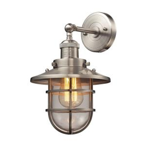 Seaport - 1 Light Wall Sconce in Transitional Style with Urban/Industrial and Modern Farmhouse inspirations - 13 Inches tall and 8 inches wide