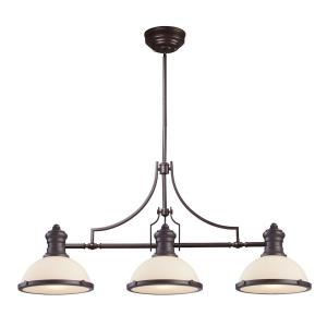 Chadwick - 1 Light Island in Transitional Style with Urban/Industrial and Modern Farmhouse inspirations - 21 Inches tall and 47 inches wide