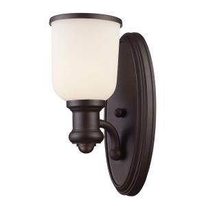 Brooksdale - 1 Light Wall Sconce in Transitional Style with Urban/Industrial and Modern Farmhouse inspirations - 13 Inches tall and 5 inches wide