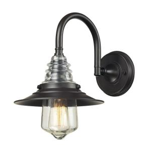 Insulator Glass - 1 Light Wall Sconce in Transitional Style with Urban/Industrial and Modern Farmhouse inspirations - 14 Inches tall and 9 inches wide