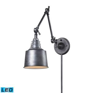 Insulator Glass - 9.5W 1 LED Swingarm Wall Sconce in Transitional Style with Urban and Modern Farmhouse inspirations - 18 by 7 inches wide