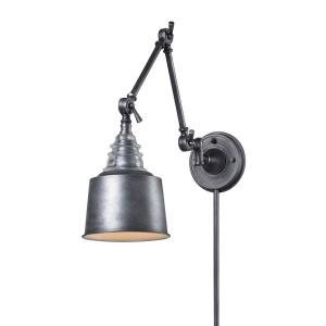 Insulator Glass - 1 Light Swingarm Wall Sconce in Transitional Style with Urban and Modern Farmhouse inspirations - 18 Inches tall and 7 inches wide