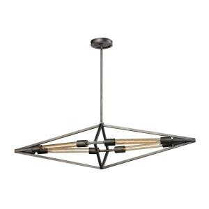 Laboratory - 4 Light Chandelier in Modern/Contemporary Style with Urban and Modern Farmhouse inspirations - 11 Inches tall and 11 inches wide