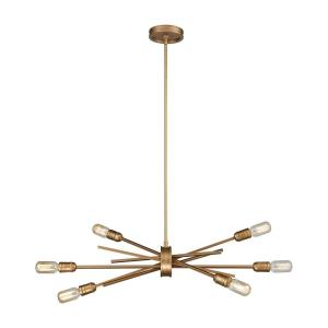 Xenia - 6 Light Chandelier in Modern/Contemporary Style with Mid-Century and Retro inspirations - 16 Inches tall and 31 inches wide