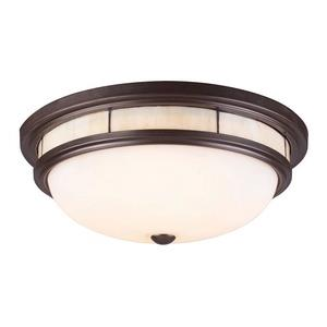Tiffany Flushes - Three Light Flush Mount