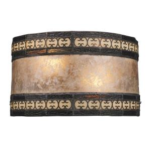 Mica Filigree - 2 Light Wall Sconce in Traditional Style with Vintage Charm and Southwestern inspirations - 6 Inches tall and 10 inches wide
