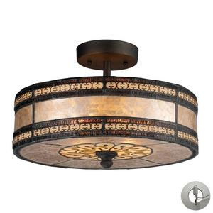 Mica Filigree - Two Light Semi-Flush Mount