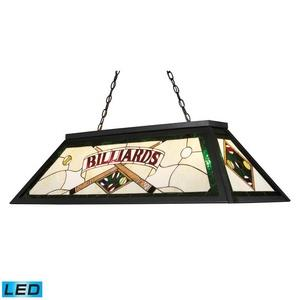 "Tiffany - 14"" 38W 4 LED Billiard"