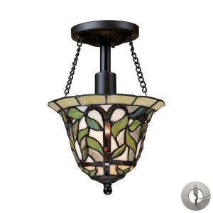 Latham - 1 Light Semi-Flush Mount in Traditional Style with Victorian and Vintage Charm inspirations - 11 Inches tall and 8 inches wide